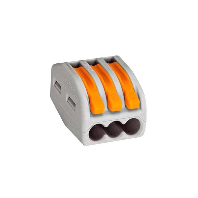 Клеммник WAGO 222-413 3х2.5мм, 20А, 300в, Cu