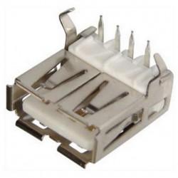 Гнездо USB A-FR/на плату, угловое
