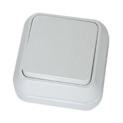 Выключатель MAKEL 45101 одноклавишный/220в, 10А, О/У