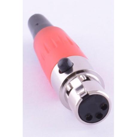 Разъем XLR /розетка кабельная, красная/