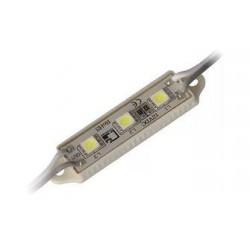модуль светодиодный 3LED 3528W /39х12мм/ IP65/белый, 12в