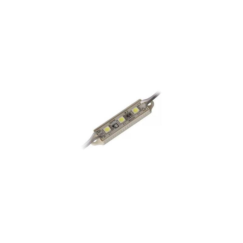 модуль светодиодный 3LED 3528W /39х12мм/ IP65 белый, 12в