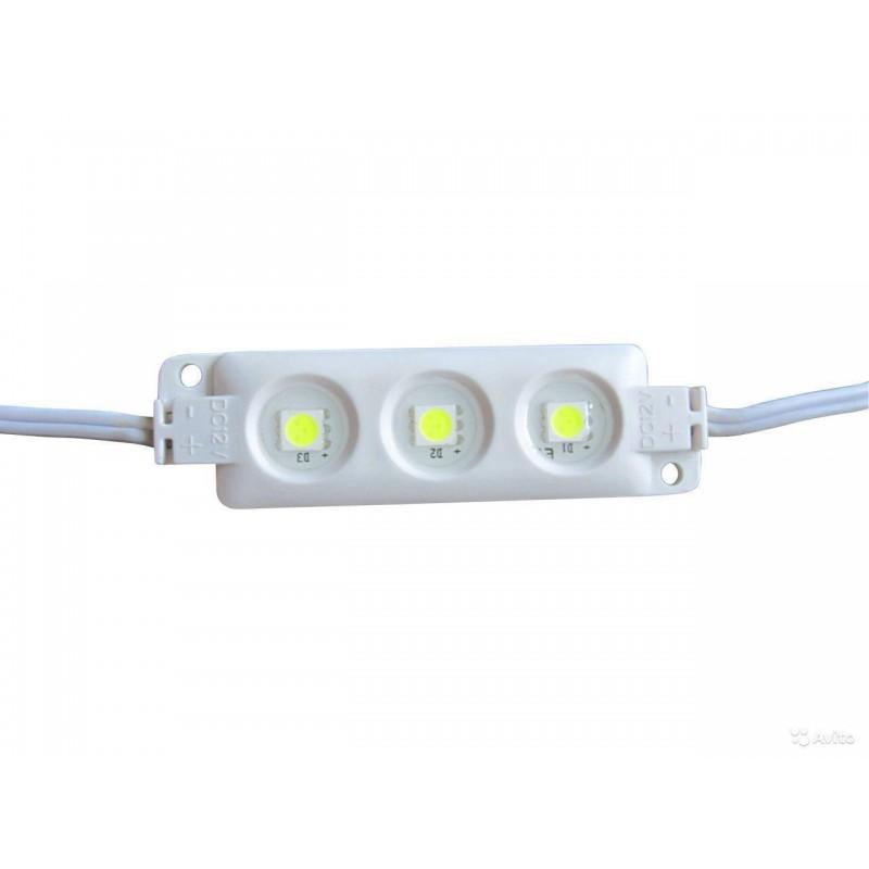 модуль светодиодный 3LED 5050Y /80х15мм/ IP65 желтый, 12в
