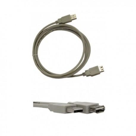 Кабель удлинительный USB2.0 Am-Af  1.8м VCOM (VUS6936-1.8MTP), серый