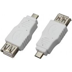 Переходник USB A гн.- miniUSB A шт.