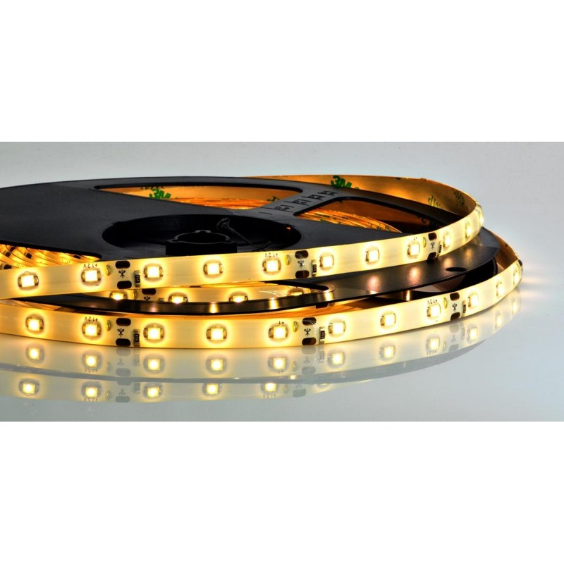 лента светодиодная 3528/60-12-WW (IP65) 12в, 4.8вт/м, 60шт/м, белый теплый