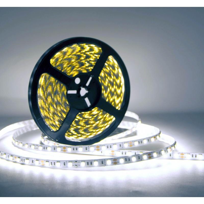 лента светодиодная 5050/60-12-W (IP65) 12в, 14.4вт/м, 60шт/м, белый холодный