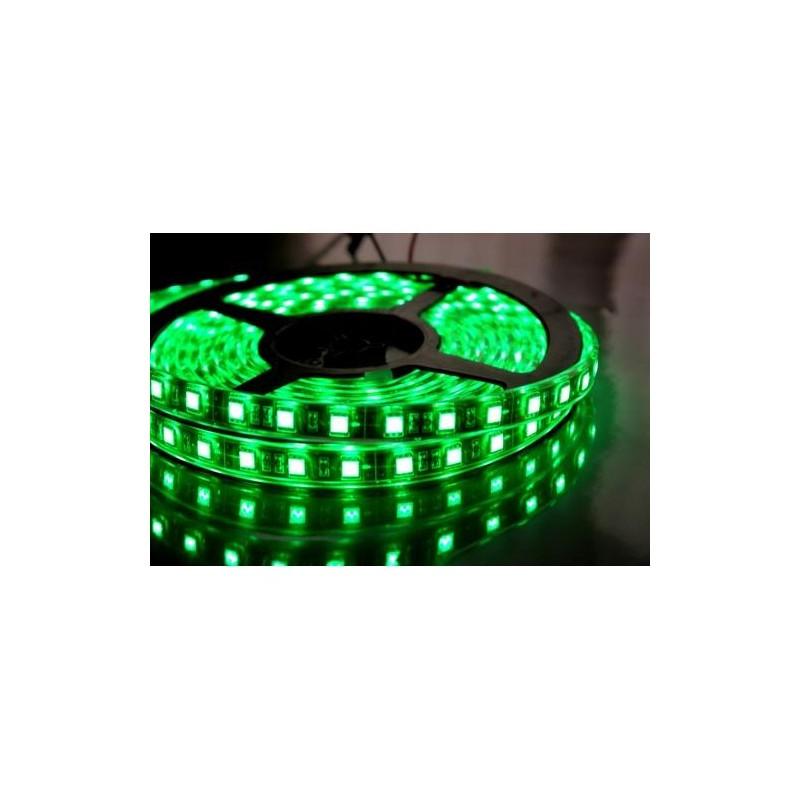лента светодиодная 5050/60-12-G (IP65) 12в, 14.4вт/м, 60шт/м, зеленый