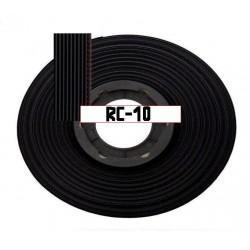Шлейф RC-10 black/1.27мм, 105°, 300в