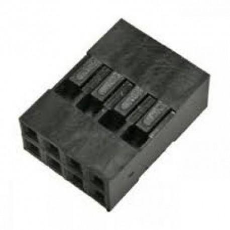 Разъем штыревой BLD-8/гнездо, кабель, 2х4, 2.54мм