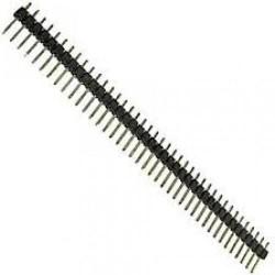 Разъем штыревой PLH-40/вилка, прямая, межплатная, 1х40+1х40, 2.54мм