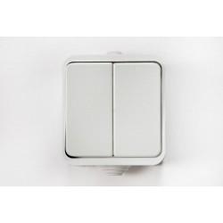 Выключатель ASD AQUA 3200 двухклавишный/220в, 10А, В/У