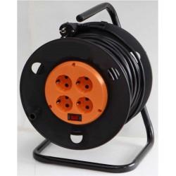 Удлинитель сетевой Rexant 4х220в (30м) катушка, выключатель/10А