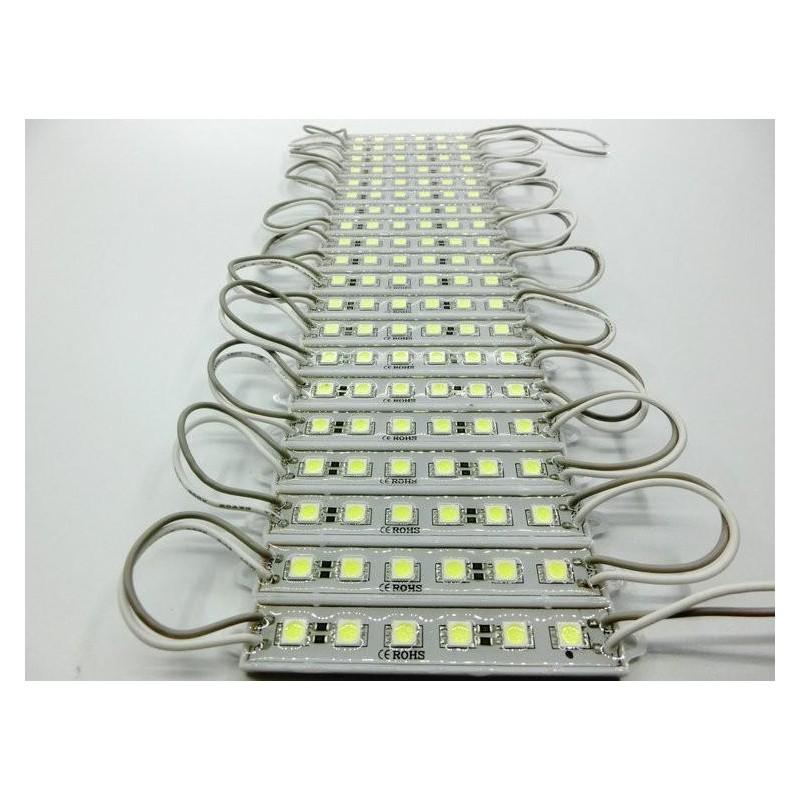 модуль светодиодный 6LED 5050B /90х14х6мм/ синий, 12в, 120лм, IP65
