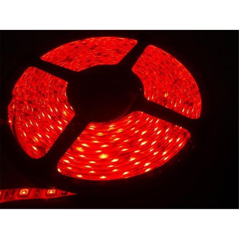 лента светодиодная 5050/60-12-R (IP65) 12в, 14.4вт/м, 60шт/м, красный