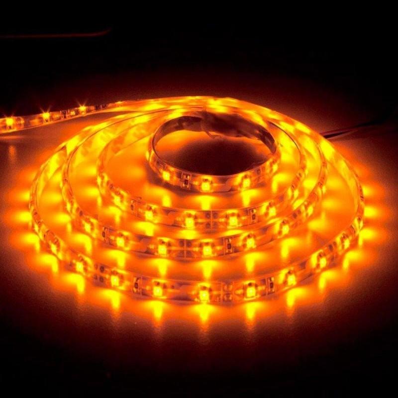лента светодиодная 3528/60-12-Y (IP65) желтый, 12в, 4.8вт/м, 60шт/м