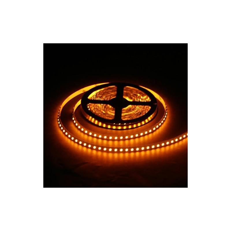 лента светодиодная 3528/120-12-Y (IP65) 12в, 120шт/м, 9,6вт/м, желтый