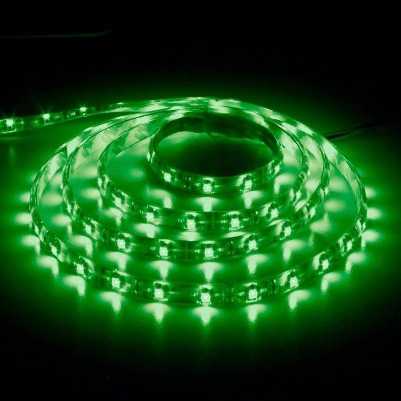 лента светодиодная 3528/60-12-G (IP68) зеленый, 12в, 60шт/м, 4.8вт/м