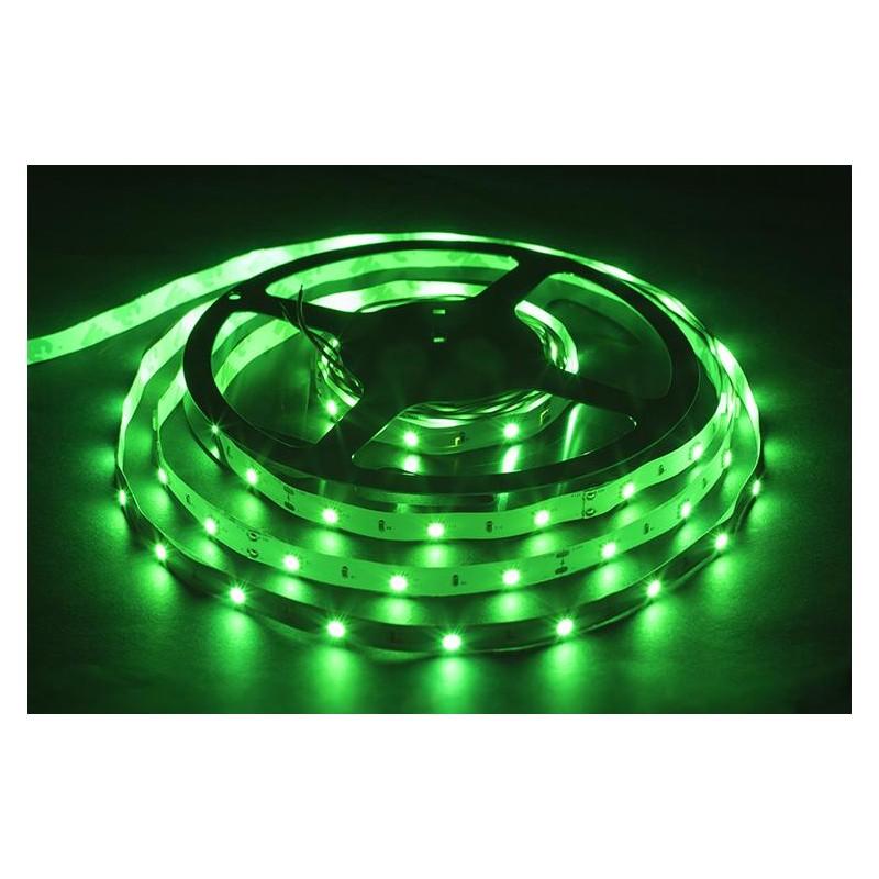 лента светодиодная 5050/30-12-G зеленый, 12в, 7.2вт/м, 30шт/м
