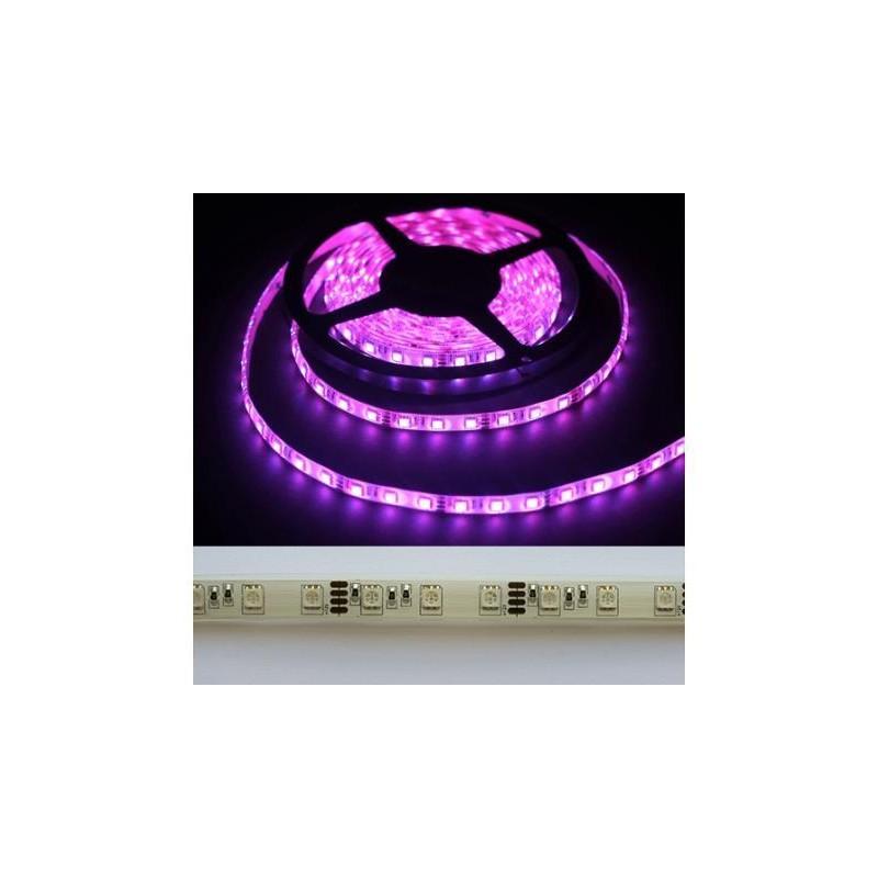 лента светодиодная 5050/60-12-P 12в, 14.4вт/м, 60шт/м, розовый