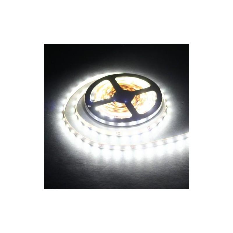 лента светодиодная 3528/60-12-W (IP65) 12в, 4.8вт/м, 60шт/м, белый холодный