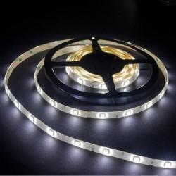 лента светодиодная 5050/30-12-W/12в, 7.2вт/м, 30шт/м, белый холодный