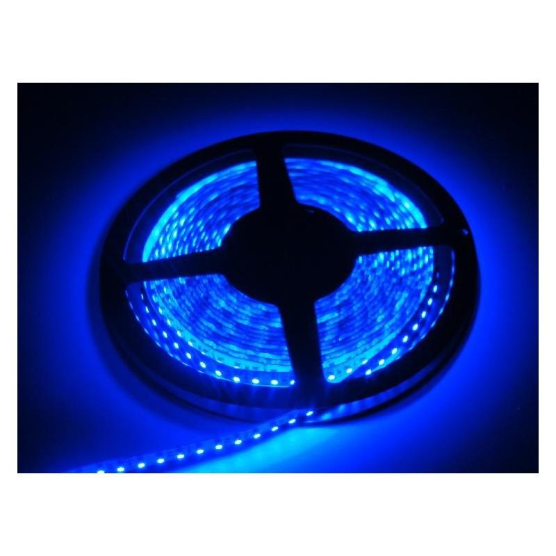 лента светодиодная 3528/120-12-B 12в, 9,6вт/м, 120шт/м, синий