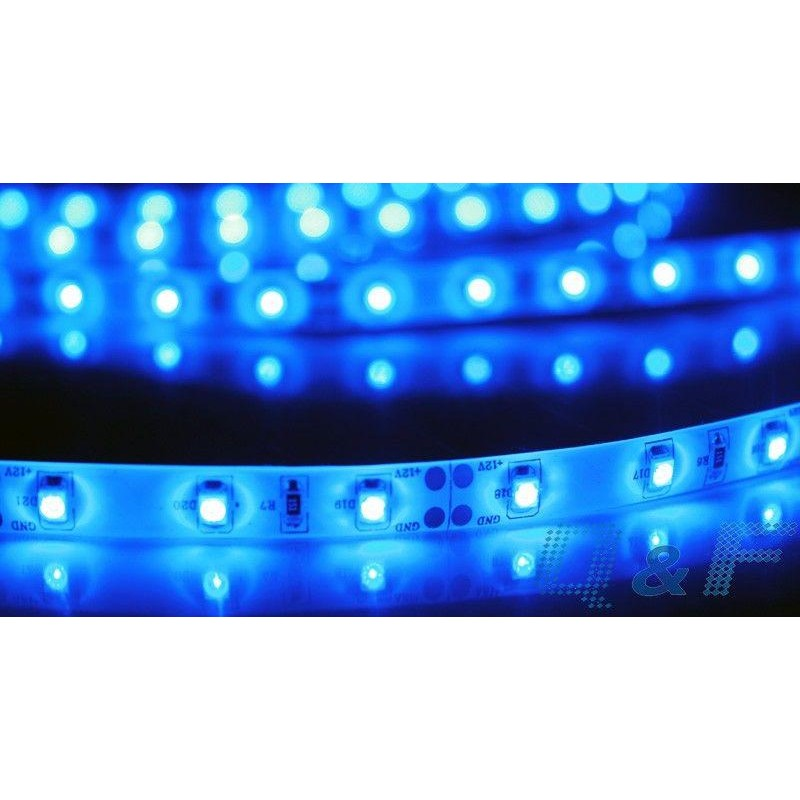 лента светодиодная 3528/60-12-B 12в, 4,8вт/м, 600шт/м, синий