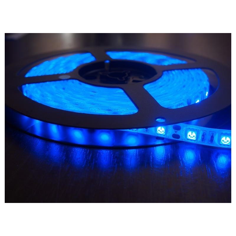 лента светодиодная 5050/60-12-B 12в, 14.4вт/м, 60шт/м, синий