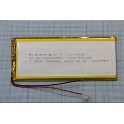 АКБ универсальная Li-Pol 3,5x53x125мм 3,7V 2500mAh