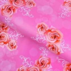 """Бумага упаковочная подарочная """"Розы в узорах"""" 50*70см"""