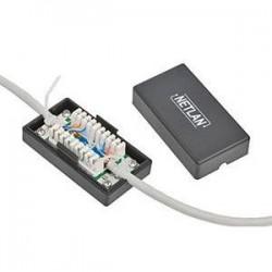 Кабельный соединитель NETLAN EC-UCB-IDC-UD2-BK IDC-IDC Кат.5e 100МГц, KRONE, T568A/B черный, J211