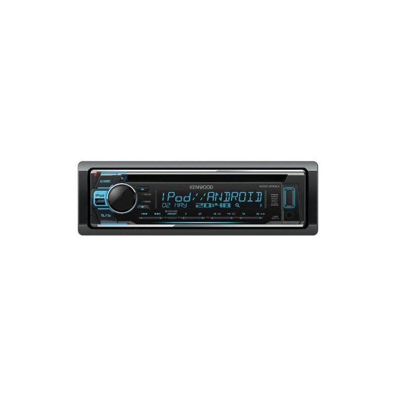 Автомагнитола CD Kenwood KDC-210UI 1DIN, 4x50Вт, MP3, CD, FM, USB, AUX