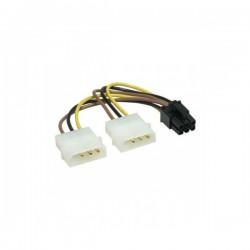 Кабель питания для подключения видеокарт 15см 2хMolex->PCI-Express 6pin (для подключения в/к PCI-Е (6pin) к б/п ATX) Cablexpert CC-PSU-6