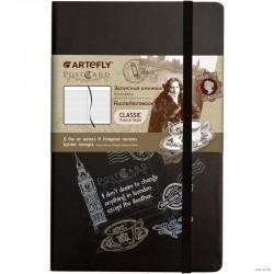 """Записная книжка ARTEFLY """"PostCard.London"""" линия, черный, 13*21 (AFNM-R7-PCL)"""