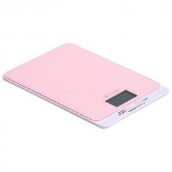 Кухонные весы Kitfort КТ-803-2 Pink электронные, стекло, макс. 5кг, точность 1г, авто вкл/выкл