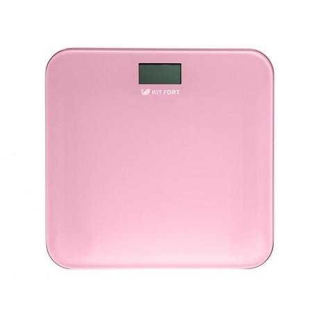 Весы Kitfort КТ-804-2 Pink стекло, точность 0,1кг, макс. 150кг, авто вкл/выкл