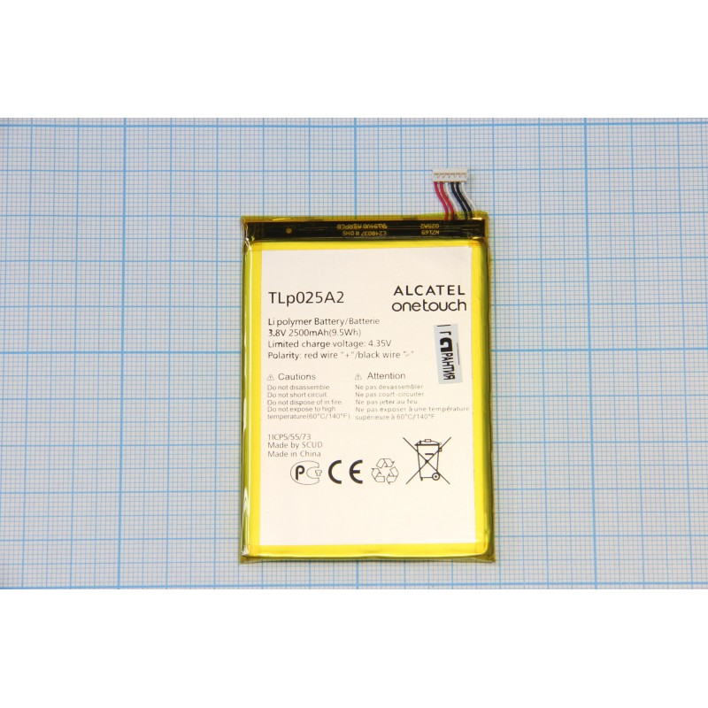 АКБ Alcatel TLp025A2 ( OT6043x/8008/8000D/TCL J926T) 3.8V 2500mAh