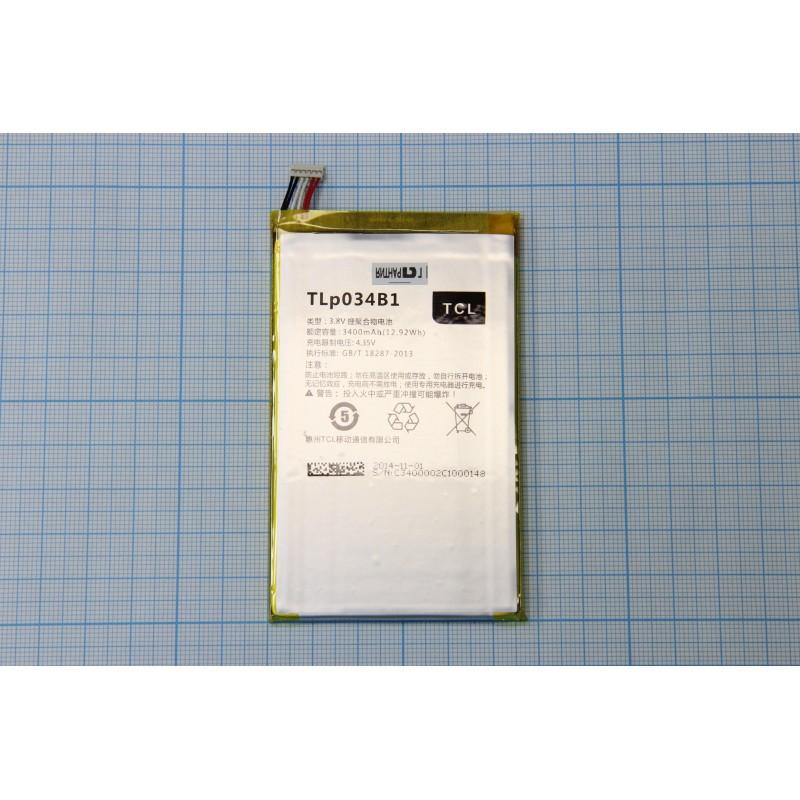 АКБ Alcatel TLp034B1 ( OT6020x/7050/8020) 3.8V 3400mAh