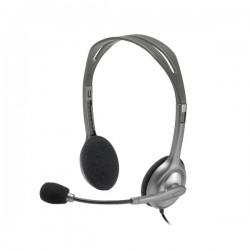 Гарнитура Logitech H110 (981-000271) накладные, 58дБ, кабель 1.8м, Silver