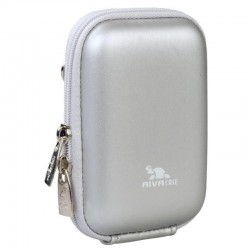 Чехол RIVA 7022 (PU) Digital Case silver (8.80х2.70х5.70 см)