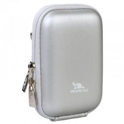 Чехол RIVA 7022 (PU) Digital Case silver (8.80х2.70х5.70 см)