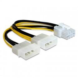 Кабель питания для подключения видеокарт 15см 8pin=>2x4pin Cablexpert CC-PSU-81 (2хMolex->PCI-Express)