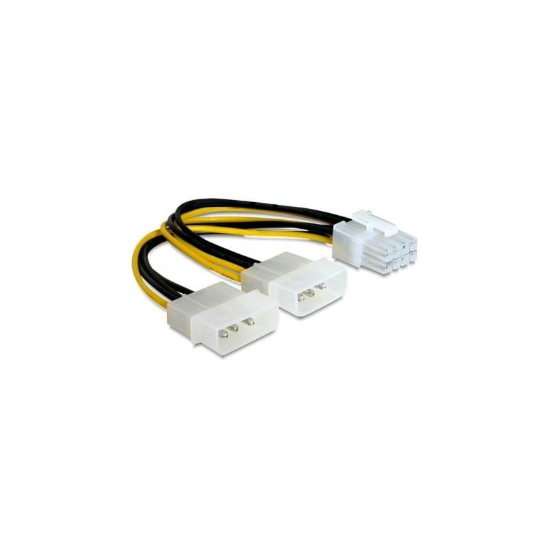 Кабель питания для подключения видеокарт 15см 8pin=>2x4pin Cablexpert CC-PSU-81 (2хMolex->PCI-Expres