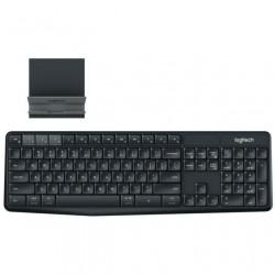 Клавиатура беспроводная Logitech K375s (920-008184) мембранная, 100 клавиш, радиус до 10м, Graphite