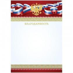 Благодарность А4, Спейс, мел. картон, тиснение фольгой (BBLF 10556)