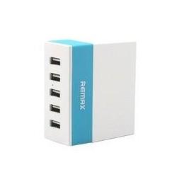 Зарядное устройство - USB 5x2.4A REMAX Youth Version RU-U1  (max output 2.4A) blue