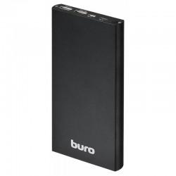 Аккумулятор внешний 12000 mAh Buro RA-12000-AL-BK 2.1A+1A черный