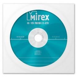 Диск CD-RW 1шт Mirex 700Mb 4-12x конверт с окном (UL121002A8C)