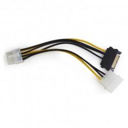 Кабель питания для подключения видеокарт Molex+SATA->PCI-Express 8pin Cablexpert CC-PSU-82